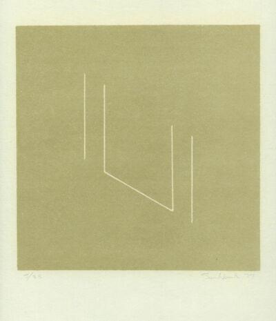 Fred Sandback, 'Reverse Lithography', 1979