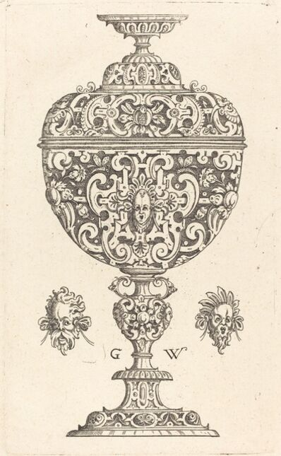 Georg Wechter I, 'Goblet decorated with a masque with open mouth', published 1579