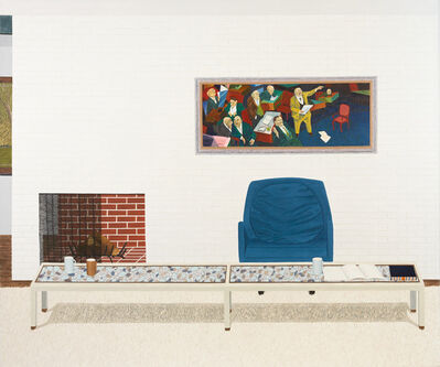 Becky Suss, 'Living Room (blue chair)', 2013
