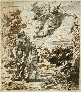 Giovanni Battista Gaulli, called Baciccio, 'Mercury Leading Geography', 1689