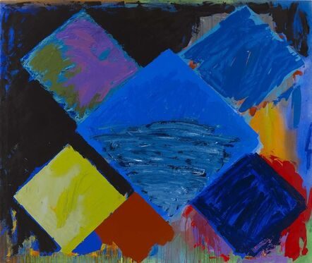 John Hoyland, 'New Year's Day (Blue Flame) 1.1.81', 1981