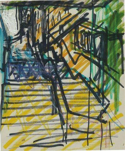 Frank Auerbach, 'St Pancras Steps', 1978-1979