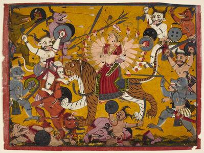 'The Goddess Durga Slaying Demons from the Devi Mahatmya', 18th century