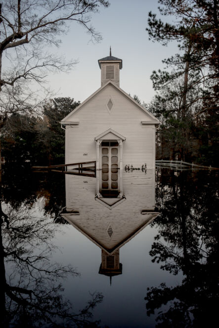 Ryan Vizzions, 'A church flooded by Hurricane Florence stands silently in its reflection in Burgaw, North Carolina, 2018', 2018
