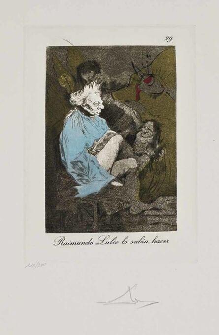 Salvador Dalí, 'Raimundo Lulio lo sabia hacer (Les Caprices de Goya de Dalí, #29)', 1977