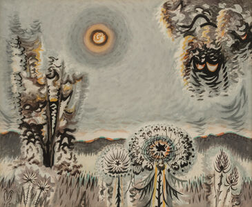 Charles Ephraim Burchfield, 'Sultry Moon', 1959