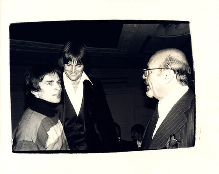 Andy Warhol, 'Andy Warhol, Photograph of Rudolf Nureyev, Bruce Jenner, and Ahmet Ertegen circa 1982', ca. 1982