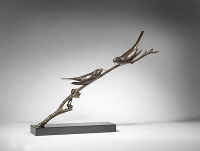 André Vincent Becquerel, 'Birds on a Branch', ca. 1930
