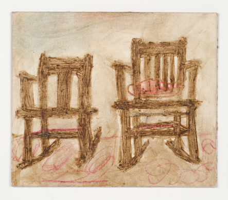 James Castle, 'Untitled (Two chairs, verso: one chair)'