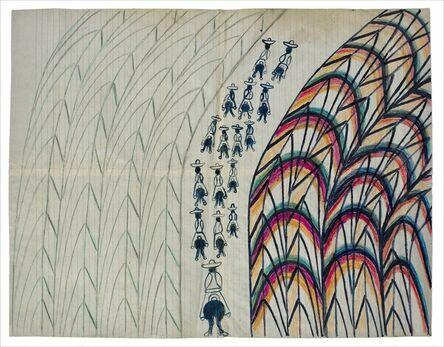 Martín Ramírez, 'Untitled (Men Riding Away)', ca. 1963