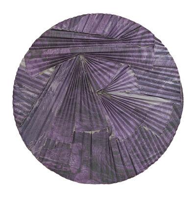 Letha Wilson, 'Purple Lava Concrete Ripple Tondo', 2016