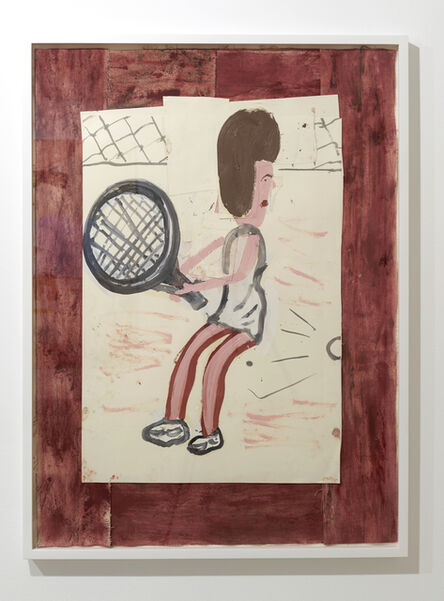Rose Wylie, 'Tennis Player, Bartoli?', 2016