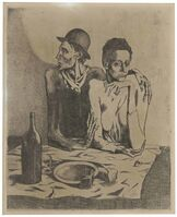 Pablo Picasso, 'Le Repas Frugal, from La Suite des Saltimbanques', 1904