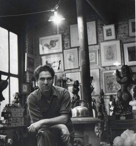 Karl Bissinger, 'Chaim Gross in his studio', 1950-1951