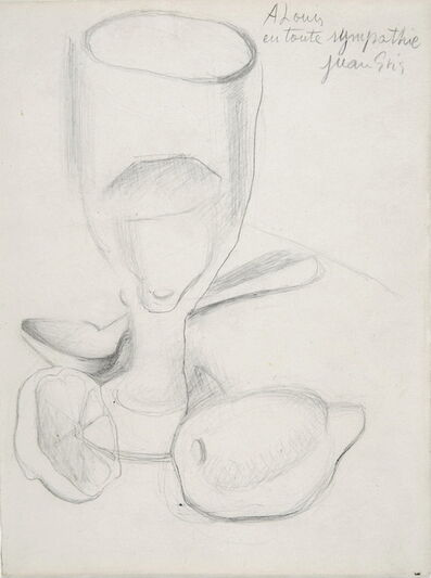 Juan Gris, 'Verre et Citron ', ca. 1911-18