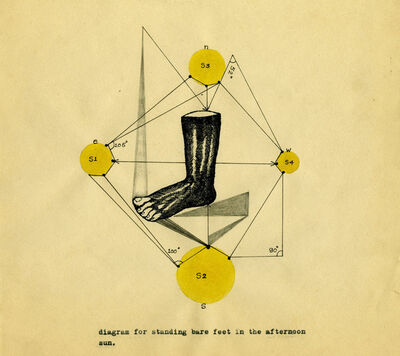 Shreyas Karle, 'diagram for standing bare feet in the sun', 2014