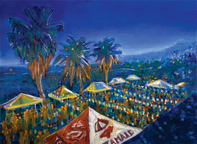 Barbara Able, 'H-town Nights - Night landscape, contemporary, bright colors', 2020