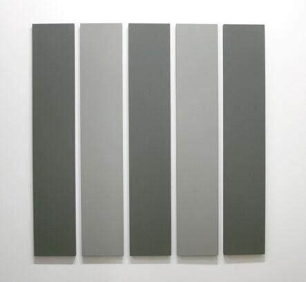 Alan Charlton, '5 Part Painting in 2 Greys', 2000