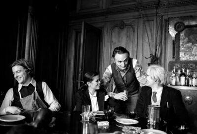 Harry Benson, 'Andy, Bianca, Larry Rivers, Jamie Wyeth, The Factory, New York', 1977