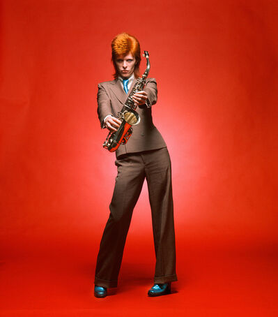 Mick Rock, 'Bowie, Sax Full-Length Color', 1973