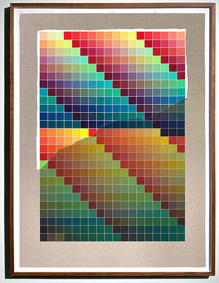 Analía Saban, 'Transcending Pigment from Paint to Canvas, from Canvas to Paint (Color) #1 No. II', 2020