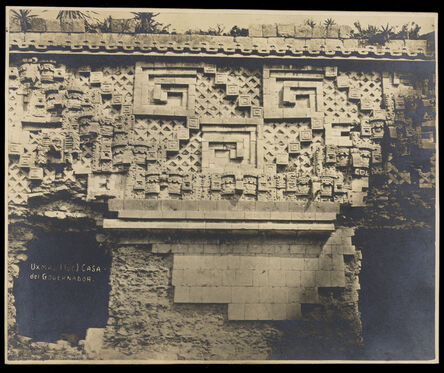 Claude Joseph Désiré Charnay, '[Governor's Palace (Uxmal, Mexico): detail of facade frieze]', 1882