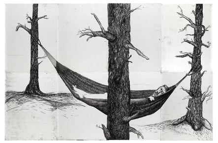 Daniel Heyman, 'Summer: Artist Sleeps', 2010