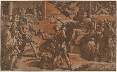 Antonio da Trento after Parmigianino, 'The Martyrdom of Two Saints', ca. 1530