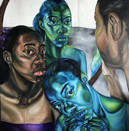 Ekene Emeka Maduka, 'Merrily, merrily, merrily, life is but a dream 198.1 x 198.1cm. ', 2020