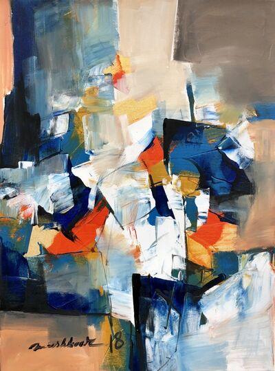 Mashkoor Raza, 'abstract composition ', 2018