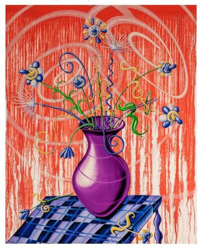 Kenny Scharf, 'Flores (Red)', 2020