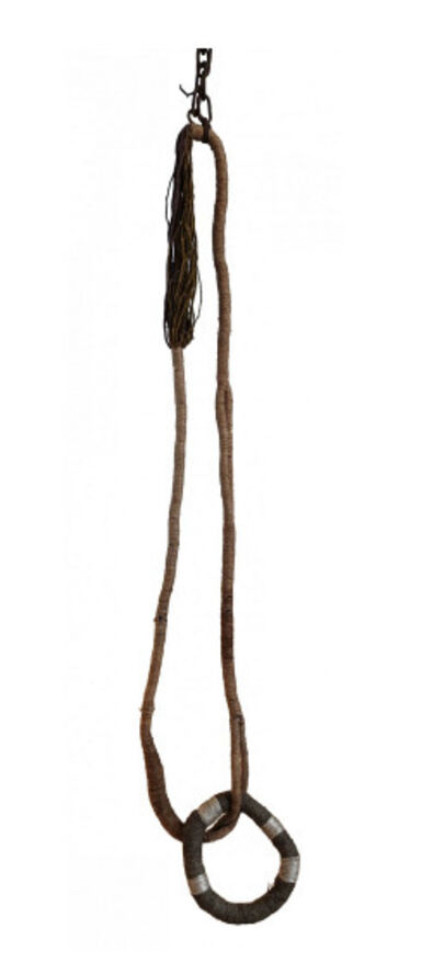 Olga de Amaral, 'Eslabón de plata y lino [Silver and linen link]', 1972