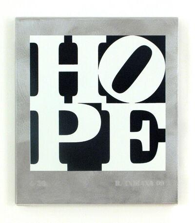 Robert Indiana, 'HOPE Black and White', 2009