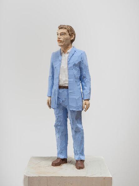 Stephan Balkenhol, 'Man with Light Blue Shirt ', 2019