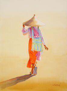 Min Wae Aung, 'Towards Nuns Rest House (3)', 2016