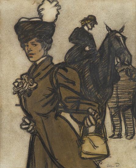 Maxime Dethomas, 'Jeune femme et amazone', ca. c.1890