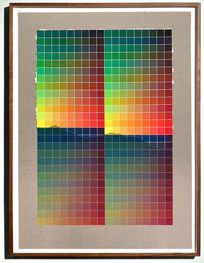 Analía Saban, 'Transcending Pigment from Paint to Canvas, from Canvas to Paint (Color #2) No. IV', 2020