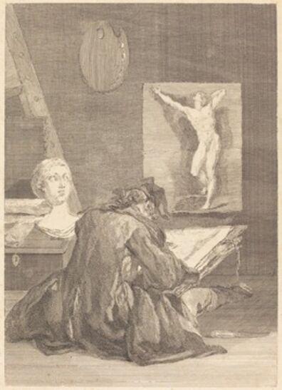 Jean-Jacques Flipart after Jean Siméon Chardin, 'Le Dessinateur (The Draughtsman)', 1757
