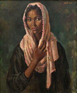 Neville Lewis, 'Portrait of a lady standing half-length'