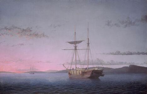 Fitz Henry Lane, 'Lumber Schooners at Evening on Penobscot Bay', 1863