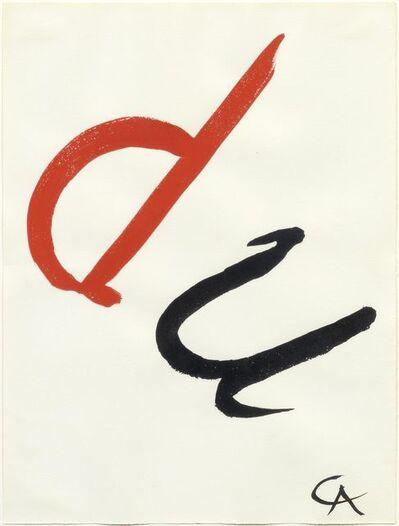 Alexander Calder, 'du', 1965