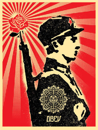 Shepard Fairey, 'Rose Soldier AP', 2006