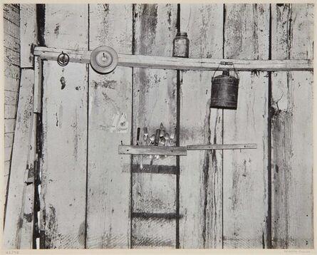 Walker Evans, 'Kitchen Wall, Alabama Farmstead', 1936