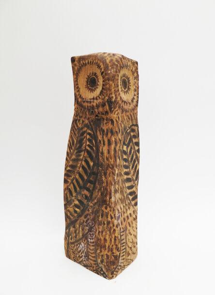 Jean Dessirier, 'Chouette en bois ocre et noire', 1992
