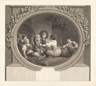 Nicolas Delaunay after Jean-Honoré Fragonard, 'L'Education fait tout', 1791