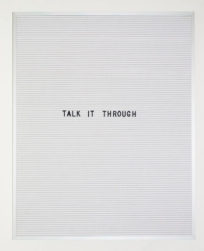 Nicole Reber, 'When you don't know what to do', 2016