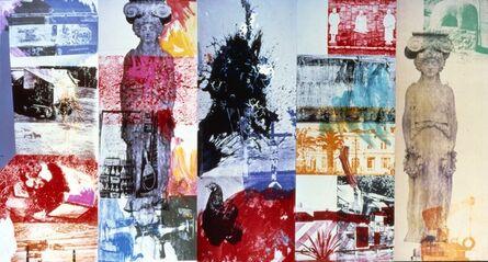 Robert Rauschenberg, 'Caryatid Cavalcade I / ROCI CHILE', 1985