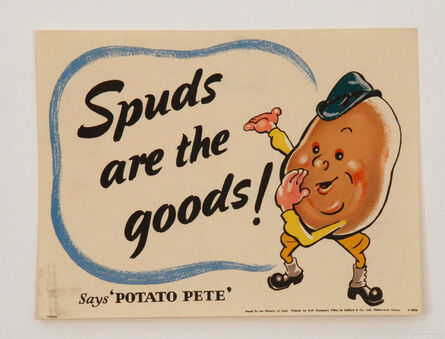 Unknown Artist, 'Spuds Are The Goods'