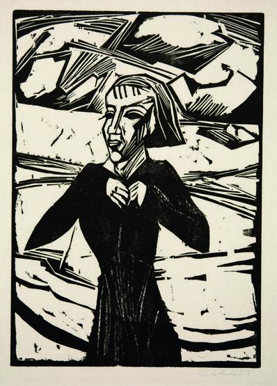 Erich Heckel, 'Mädchen am Meer', 1918