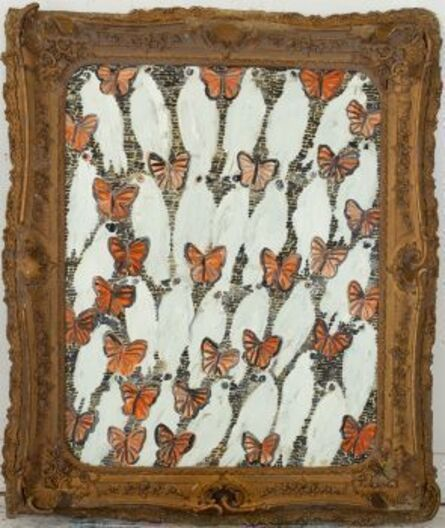 Hunt Slonem, 'Untitled (Doves and Butterflies)', 2018
